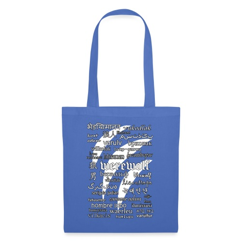 Werewolf in 33 Languages (Black Ver.) - Tote Bag