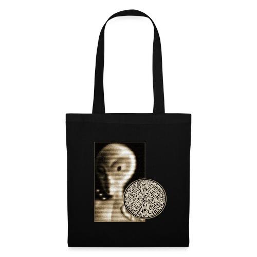Grey alien message - Tote Bag