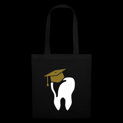 Zahn mit Doktorhut für Zahnarzt Zahnmedizin - Stoffbeutel