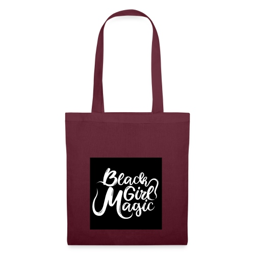 Black Girl Magic 1 White Text - Tote Bag