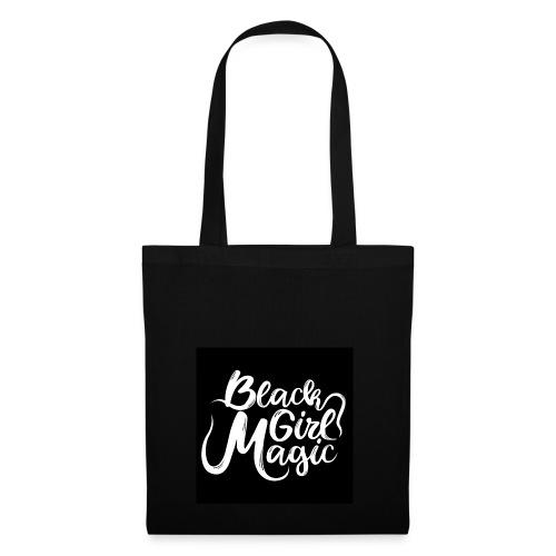 Black Girl Magic 1 White Text - Tote Bag