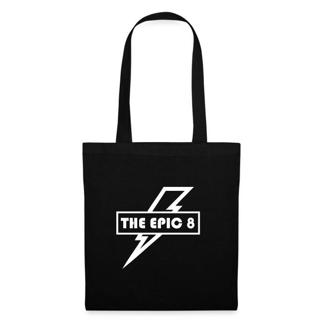 The Epic 8 - valkoinen logo