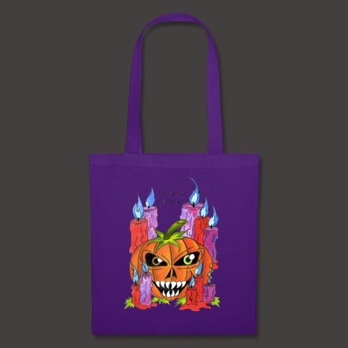 CANDLE PUMPKIN - Tote Bag