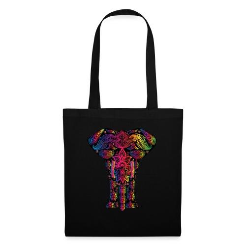 Bunter Elefant - Stoffbeutel