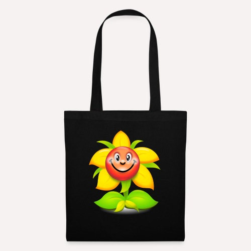 Smiling Face Happy Flower - Tote Bag