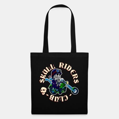 riders skull club dark background 2 - Bolsa de tela