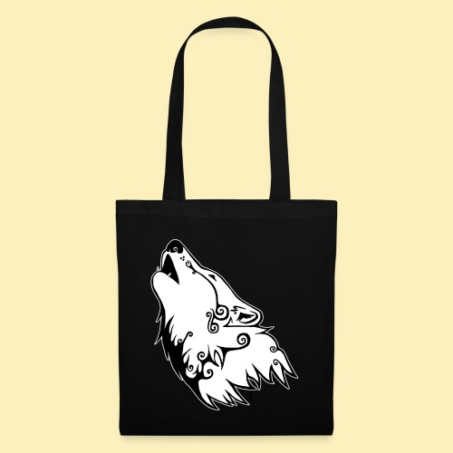 Le Loup de Neved (version contour blanc) - Tote Bag