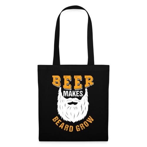 Beer Makes Beard Grow Funny Gift - Stoffbeutel