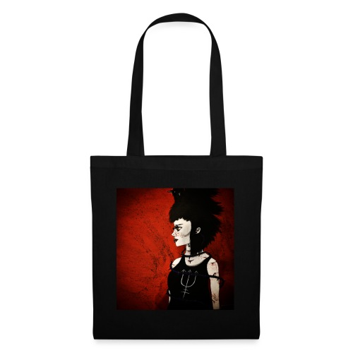 Raven Lady painting - Tote Bag