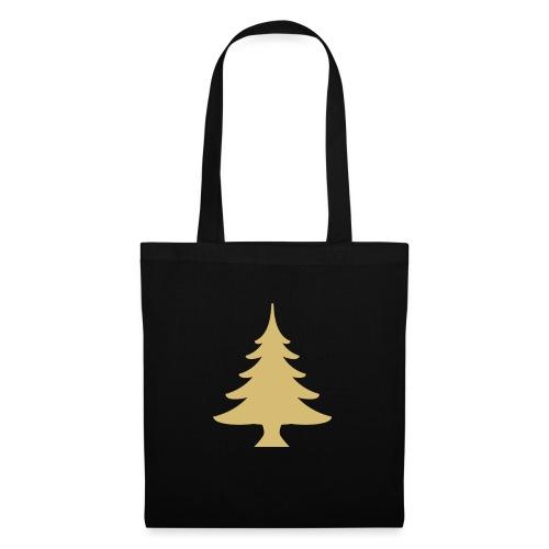 Weihnachtsbaum Christmas Tree Gold - Torba materiałowa