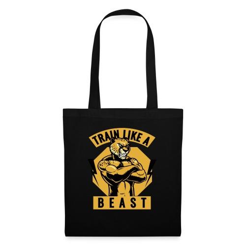 Train like a beast /Katzen-Tiger Design /Fitness - Stoffbeutel