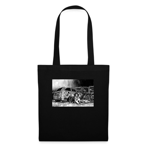 Scarlett Bush hiding from Zombies in Virginia - Tote Bag