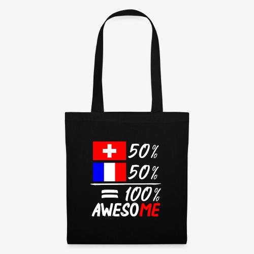 50% Schweiz 50% Frankreich - Stoffbeutel
