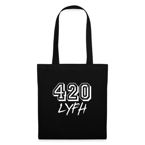 420LYFH Logo White - Tote Bag