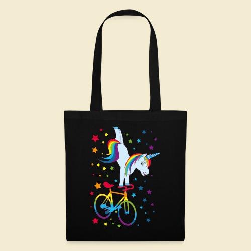 Kunstrad   Einhorn Handstand Regenbogen - Stoffbeutel