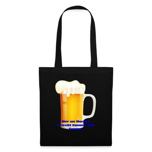 Bier am Morgen vetreibt Kummer und Sorgen Produkte - Stoffbeutel
