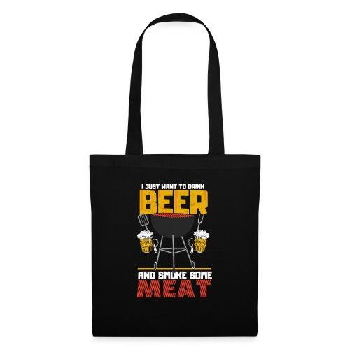 Grillen und Bier der Master trägt das Shirt. - Stoffbeutel