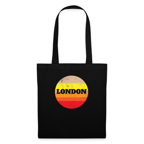 Retro London Souvenir - Vintage Sonnenuntergang Lo - Stoffbeutel