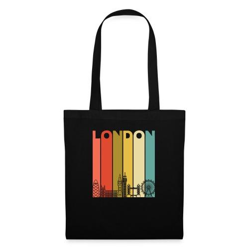 Vintage London Souvenir - Retro Streifen London - Stoffbeutel