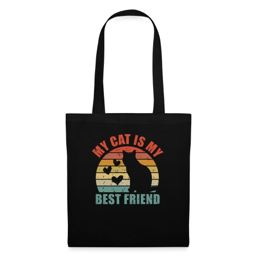 My cat is my best friend - Stoffbeutel