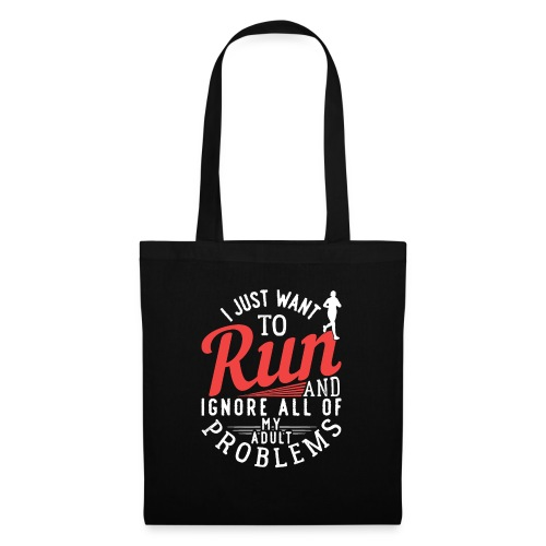 I Just Want To Run   Marathon - Stoffbeutel