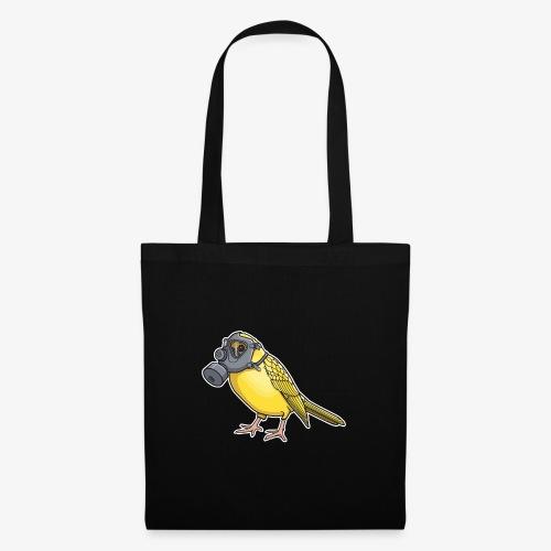 Vogel mit Gasmaske - Stoffbeutel