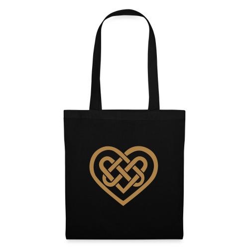Keltisches Herz Symbol Unendlichkeit Ewige Liebe - Stoffbeutel
