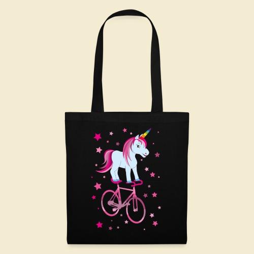 Kunstrad   Einhorn Pink - Stoffbeutel