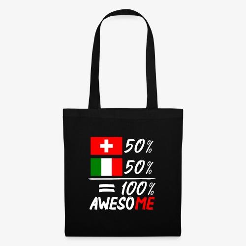 50% Schweiz 50% Italien - Stoffbeutel