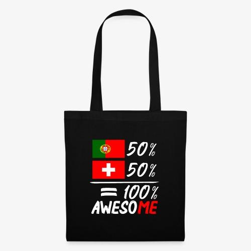 50% Portugal 50% Schweiz - Stoffbeutel
