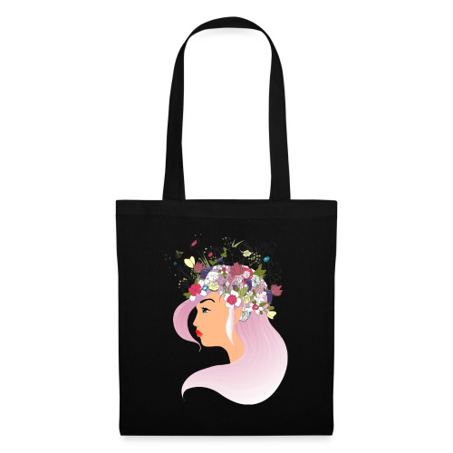 Pink Spring girl - Tote Bag