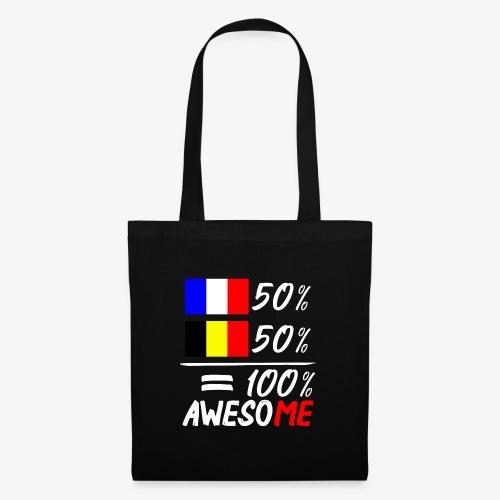 50% Frankreich 50% Belgien - Stoffbeutel