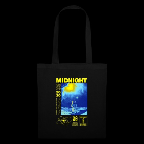 Midnight Astronaut Electric Yellow - Tote Bag
