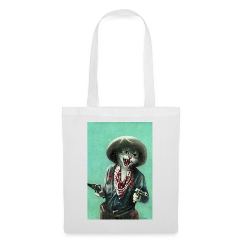 Vintage kitten Cow Girl - Tote Bag