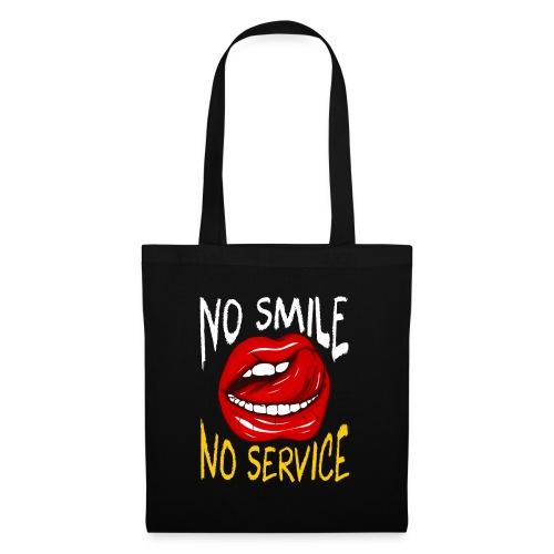 No Smile No Service - Tygväska