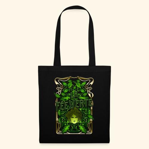 Absinth T Shirt Design La Fée Verte Art Nouveau - Stoffbeutel