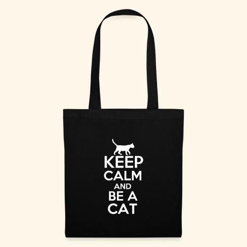 Keep Calm Katzen T-Shirt Englisch - Stoffbeutel
