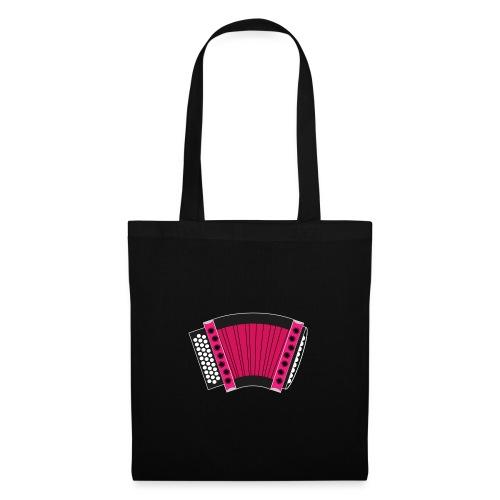 Schwyzerörgeli pink schwarzer Hintergrund - Stoffbeutel