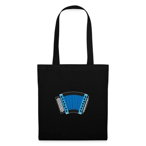 Schwyzerörgeli blau schwarzer Hintergrund - Stoffbeutel