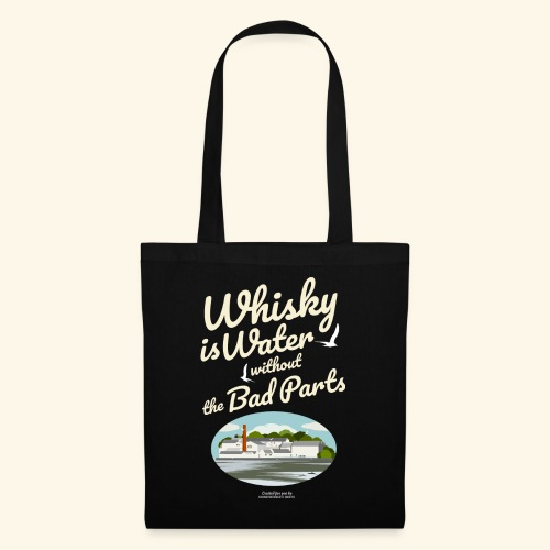 Whisky T-Shirt Whisky Is Water Destillerie - Stoffbeutel