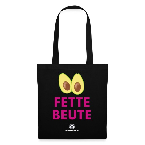 Fette Beute (dunkel) - Stoffbeutel