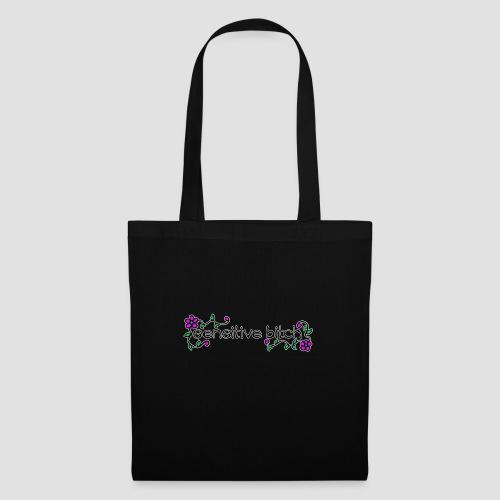 Sensitive Bitch (white outline) - Tote Bag