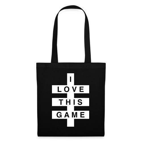 I Love this game // White logo - Tas van stof