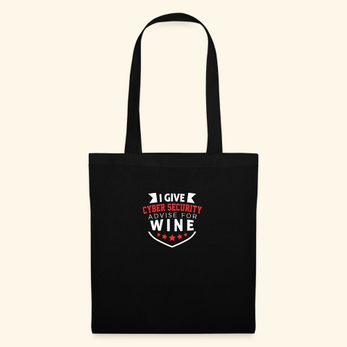 I give cyber security advice for wine - Borsa di stoffa