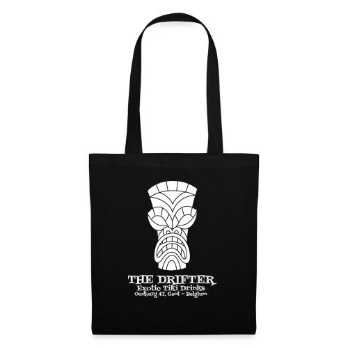 tshirt logo wit - Tas van stof