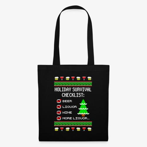 Alkohol Checklist Ugly Christmas - Stoffbeutel