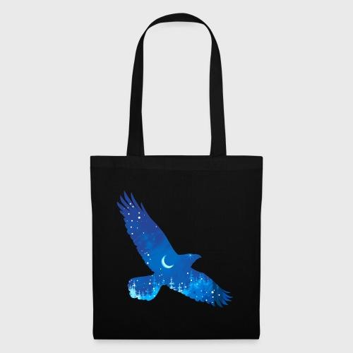 Oiseau Bleu d'hiver - Sac en tissu