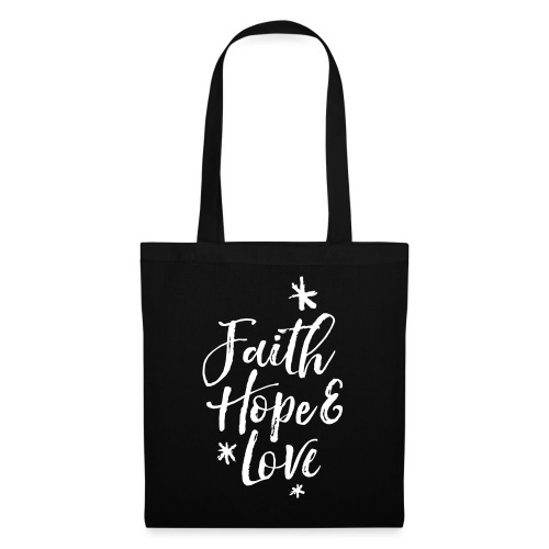 faith hope love frühling - Stoffbeutel
