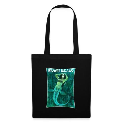 Vintage Pin-up Beach Ready Mermaid - Tote Bag
