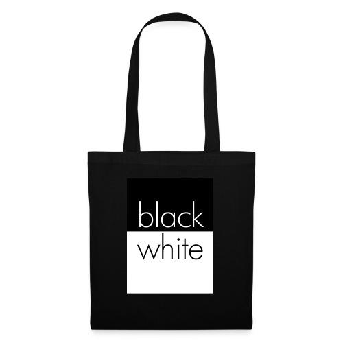black and white - Stoffbeutel